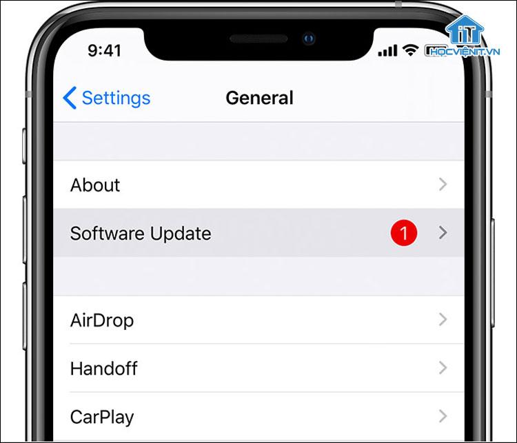 Cách cập nhật iOS trên iPhone