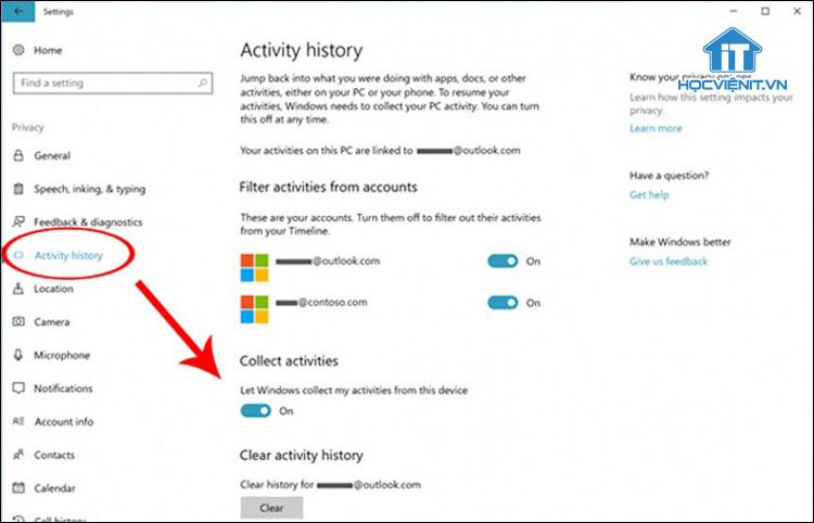 Cách kích hoạt Timeline Windows 10