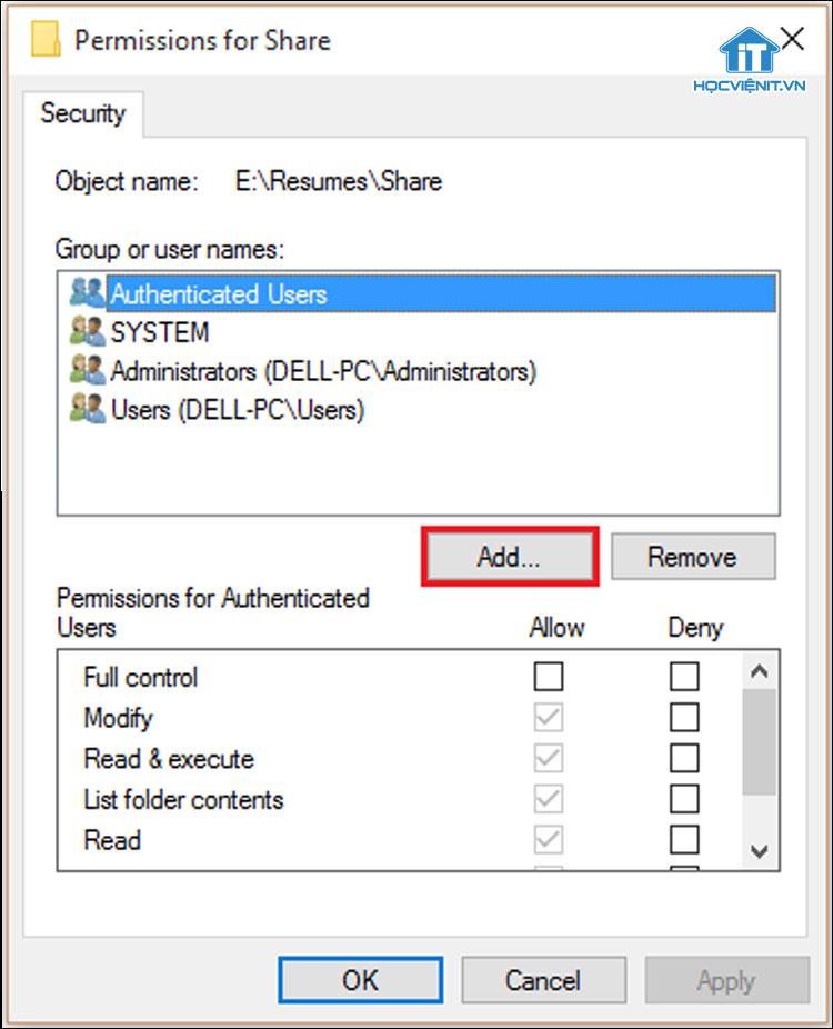 Chia sẻ file trên Windows 10