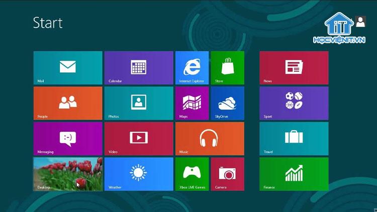 Giao diện hệ điều hành Windows 8