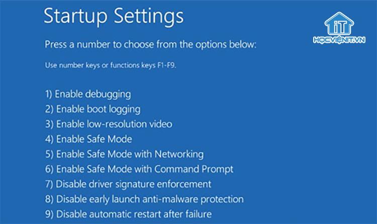 Khởi động máy tính trong chế độ Safe Mode