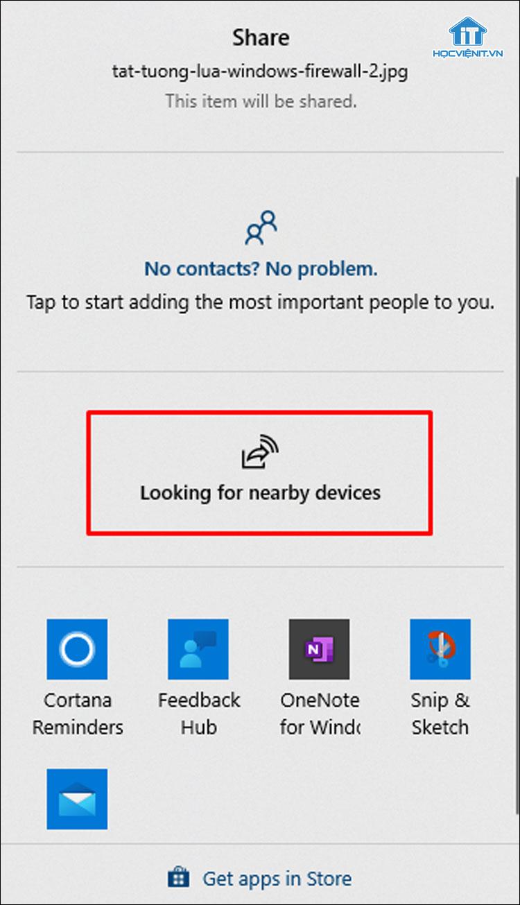 Sử dụng tính năng Share trên Windows 10