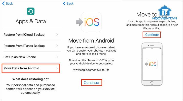 Cách chuyển dữ liệu từ Android sang iOS bằng Move to iOS