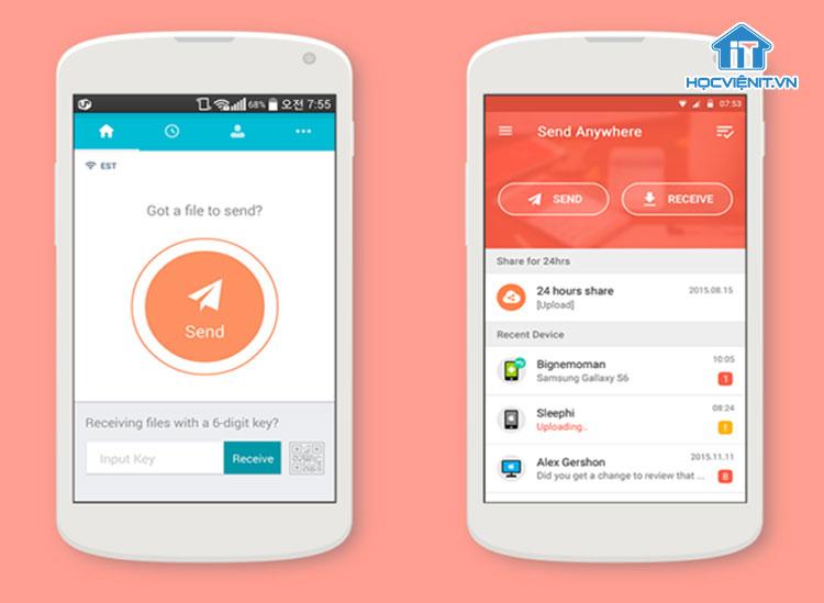Cách chuyển dữ liệu từ Android sang iOS bằng Send Anywhere