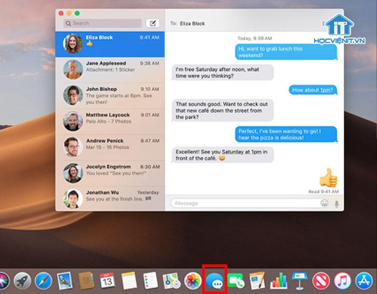 Messages trên MacBook