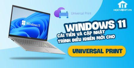 Universal Print trên Windows 11