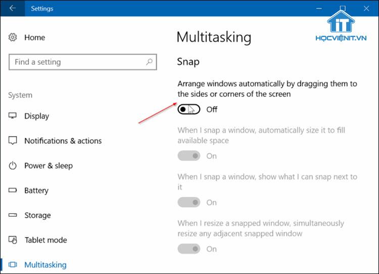 Cách bật tính năng Aero Shake trên Windows 10