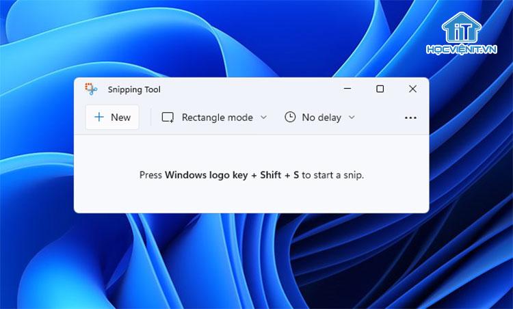 Hình ảnh Snipping Tool mới trên Windows 11