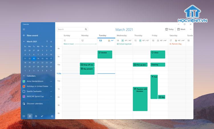 Hình ảnh ứng dụng Mail mới trên Windows 11