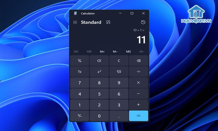 Chế độ Dark Mode của app trên máy tính Windows 11
