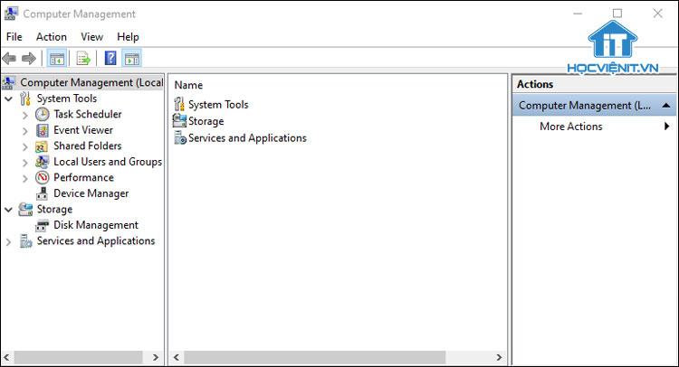 Cửa sổ Computer Management