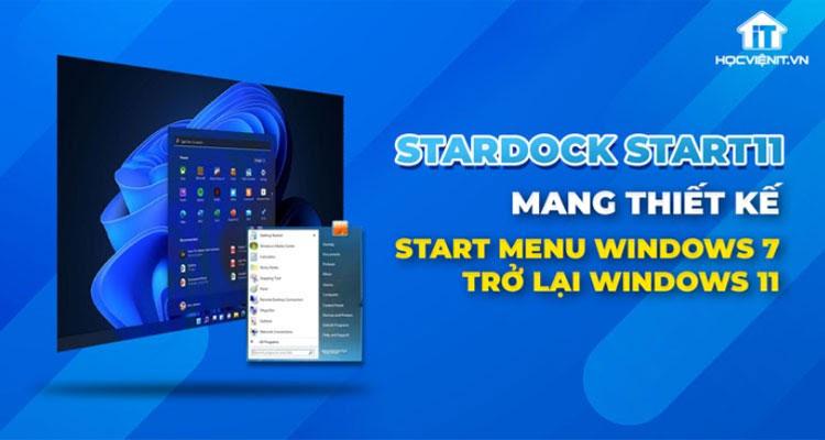 Start11 bao gồm một kiểu cũ của menu Start của Windows