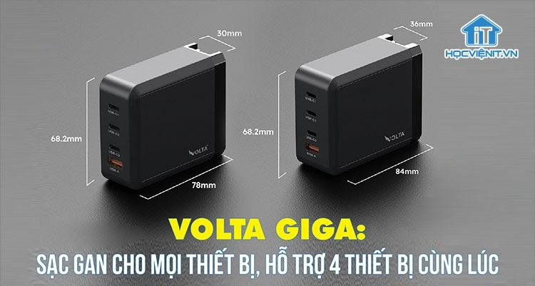 Volta ra mắt GIGA - bộ sạc GaN USB type-C nhỏ gọn mới