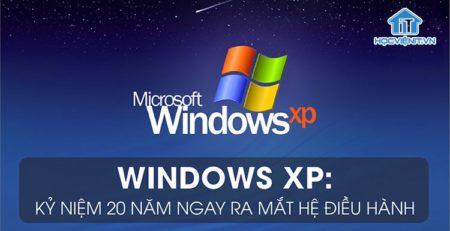 Windows XP kỷ niệm 20 năm ngày thành lập