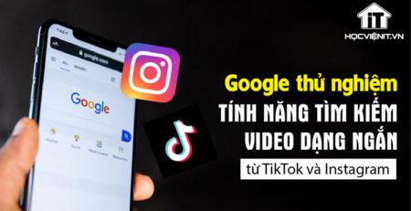Kết quả tìm kiếm sẽ hiện video từ TikTok và Instagram