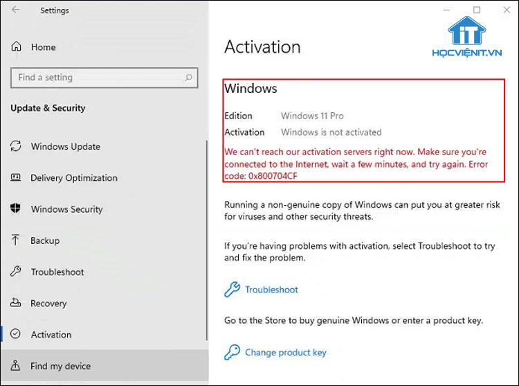 Xem trạng thái bản quyền của Windows 11