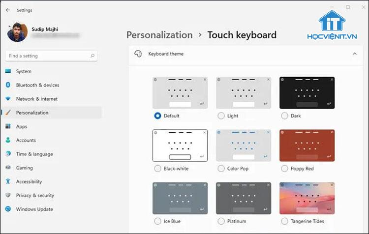 Hướng dẫn thay đổi chủ đề của bàn phím cảm ứng trên Windows 11