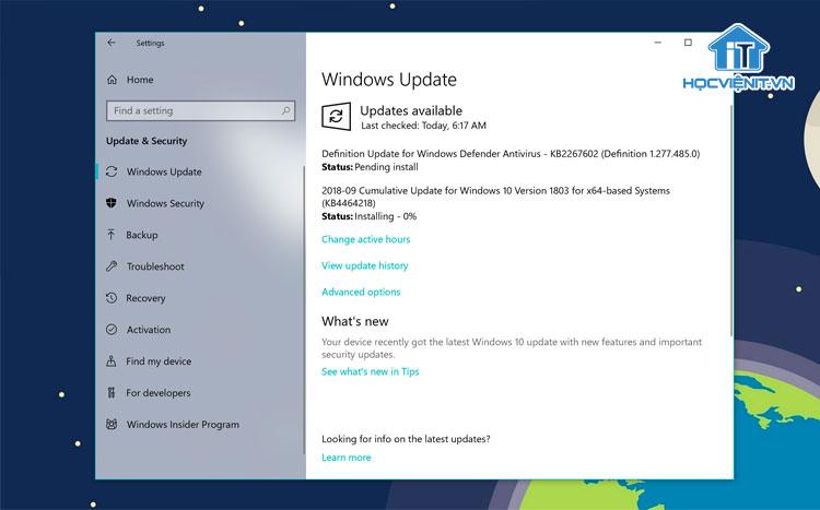 Windows 11 sẽ được cập nhật qua Windows Update