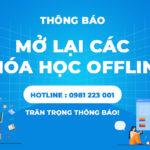 [THÔNG BÁO] Mở lại các khóa học Offline tại Học viện iT.vn