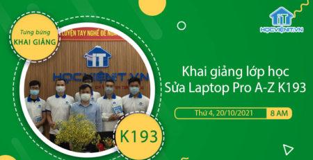 Khai giảng lớp học Sửa Laptop Pro A-Z K193